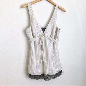 WHBM | Silk Blend Lace Top